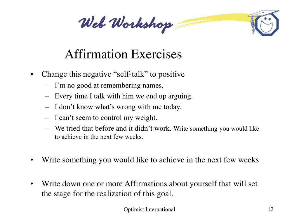 Affirmation Exercises
