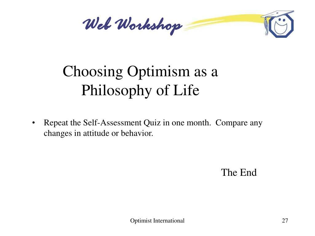 Choosing Optimism as a Philosophy of Life