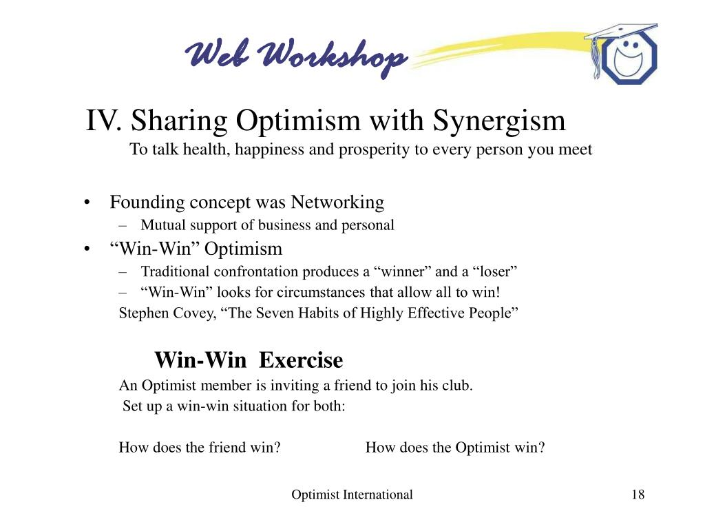 IV. Sharing Optimism with Synergism