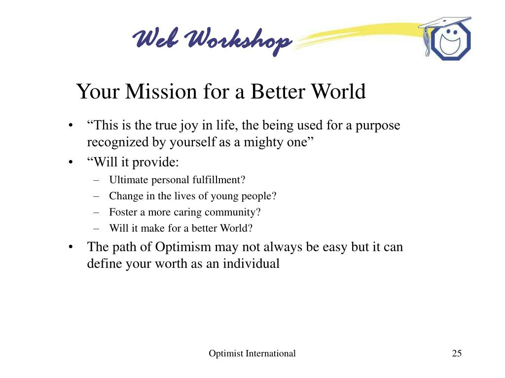 Your Mission for a Better World