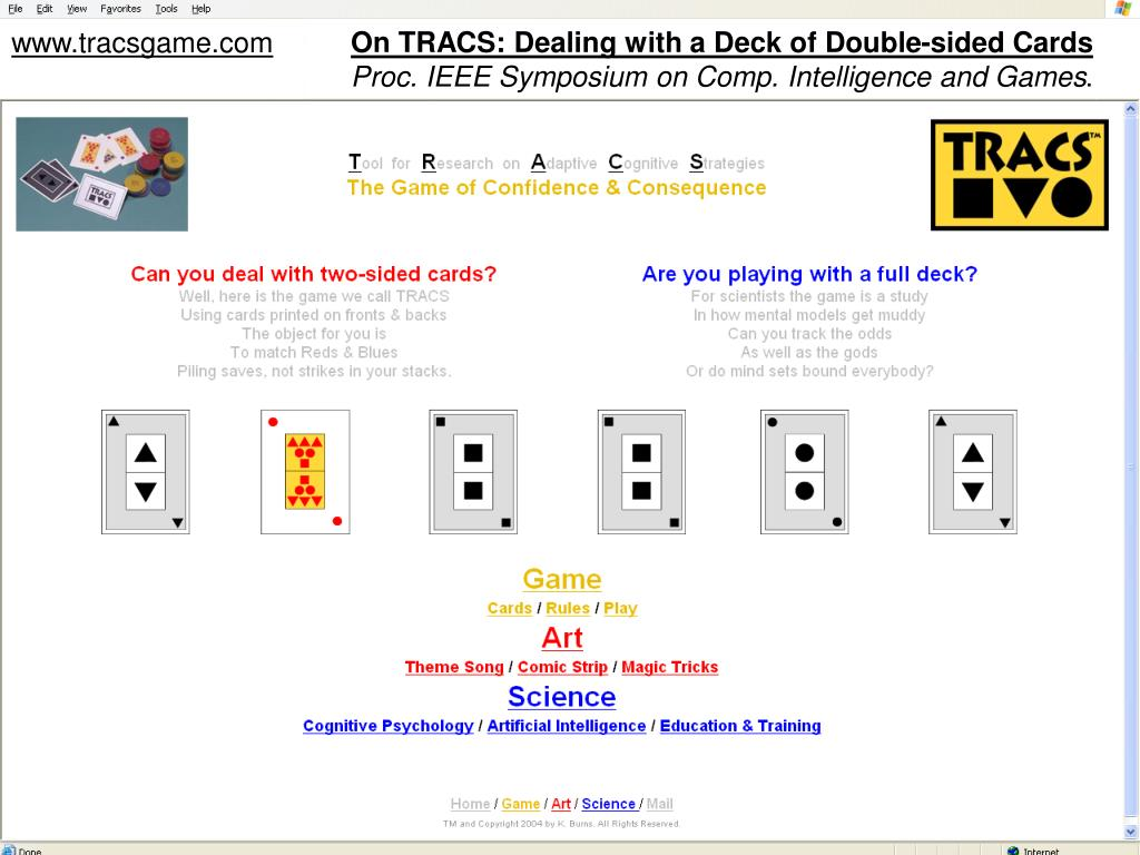 On TRACS: Dealing with a Deck of Double-sided Cards