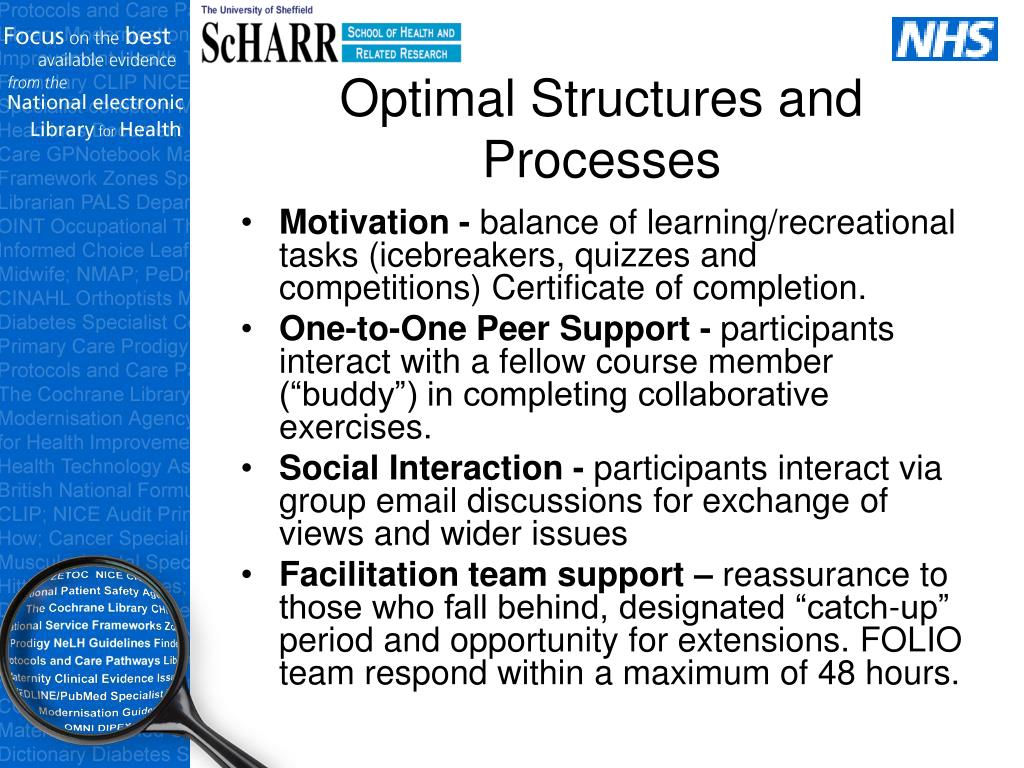 Optimal Structures and Processes