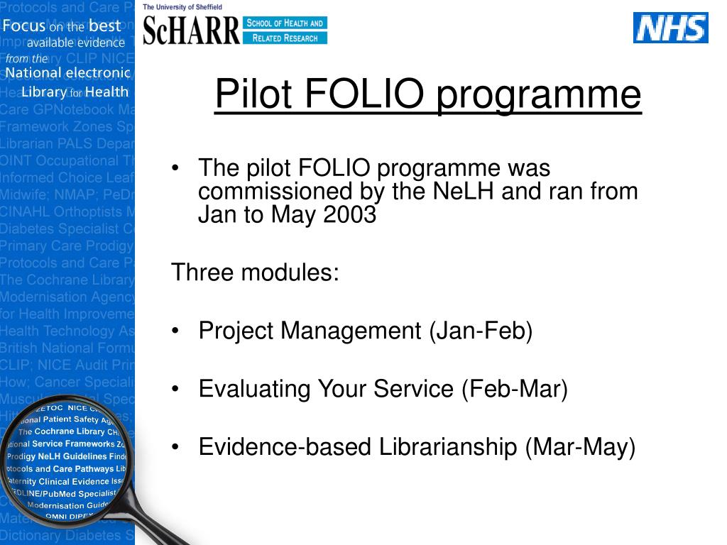 Pilot FOLIO programme