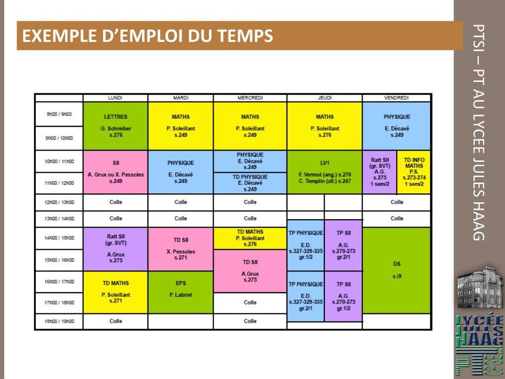 PPT - CLASSES Préparatoires AUX GRANDES écoles Sections PTSI - PT Lycée Jules HAAG PowerPoint ...