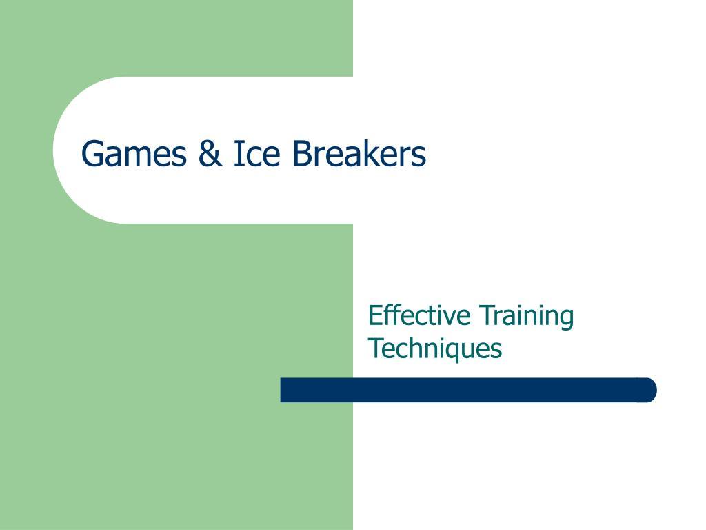 Games & Ice Breakers