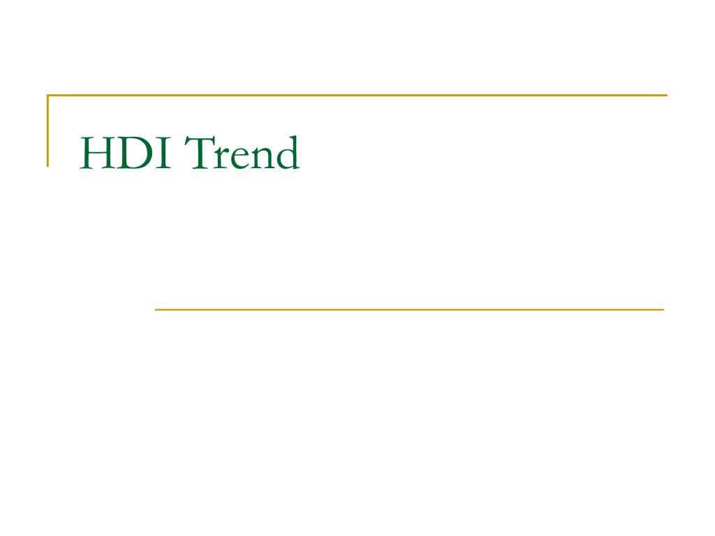 HDI Trend