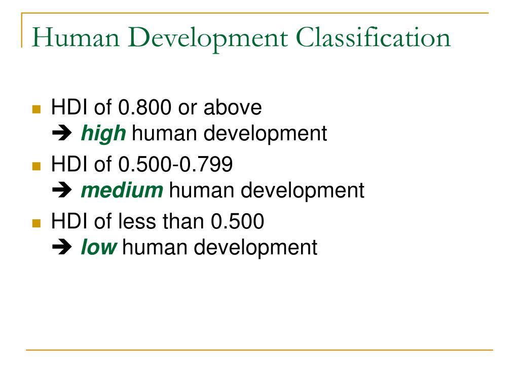 Human Development Classification