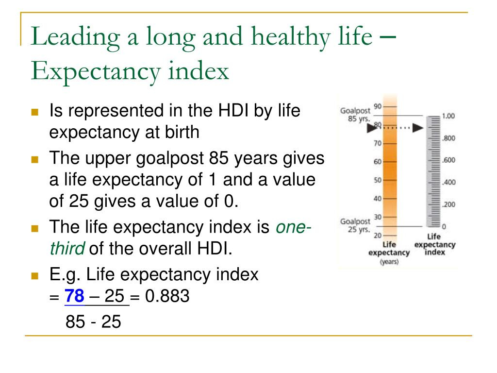 Leading a long and healthy life