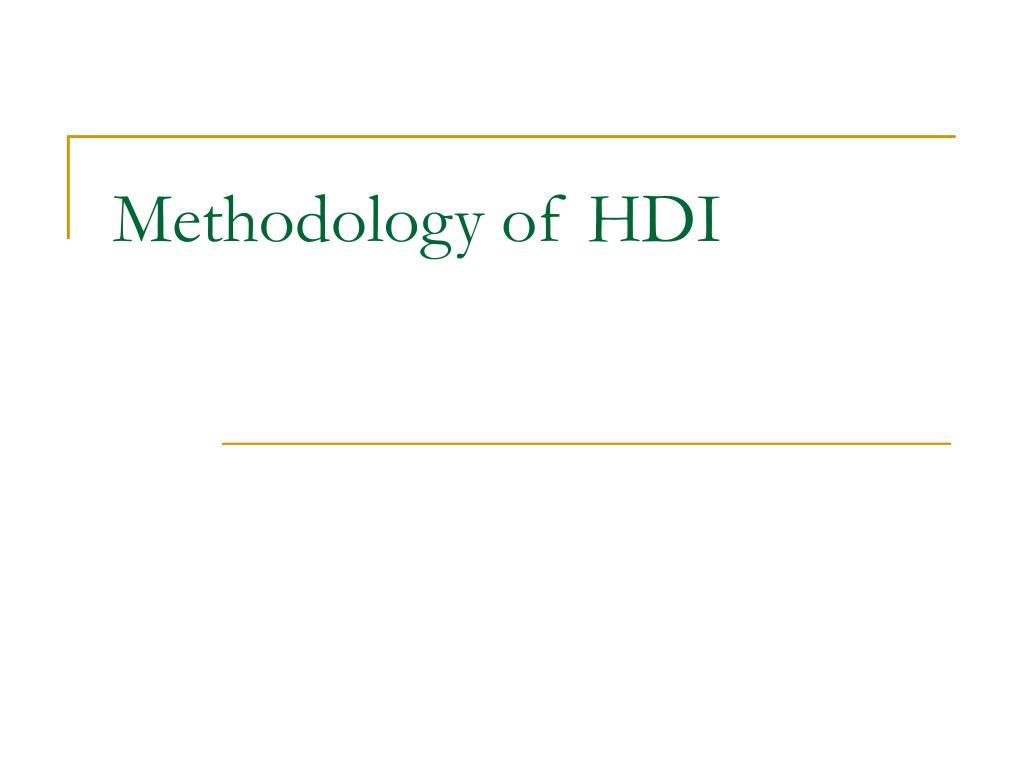 Methodology of HDI