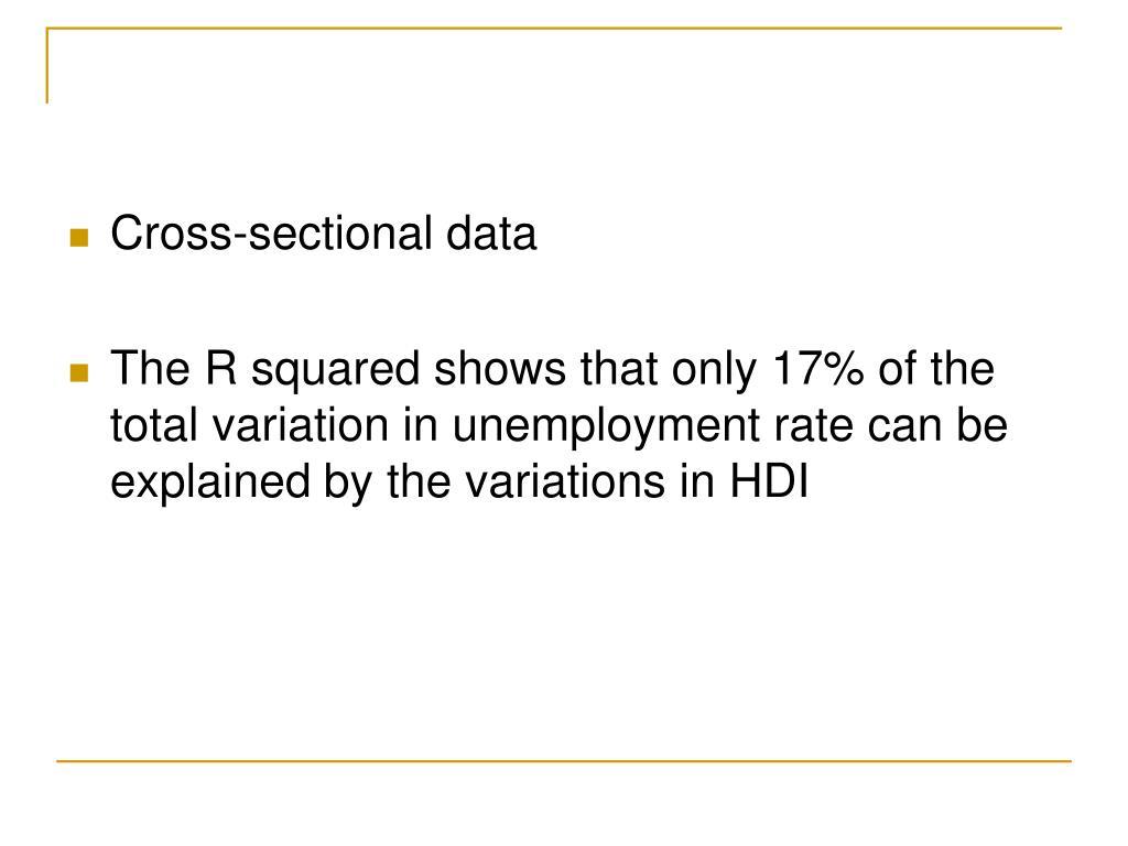 Cross-sectional data