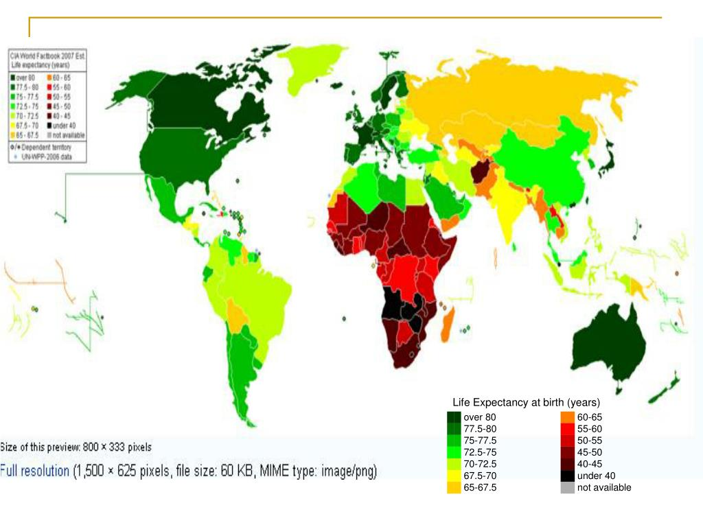 Life Expectancy at birth (years)