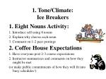 1 tone climate ice breakers