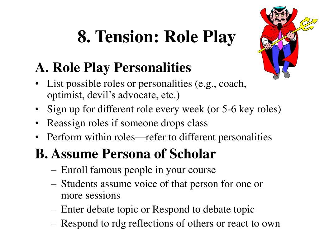 8. Tension: Role Play