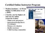 certified online instructor program