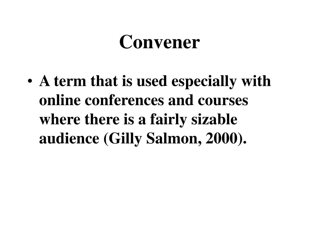 Convener