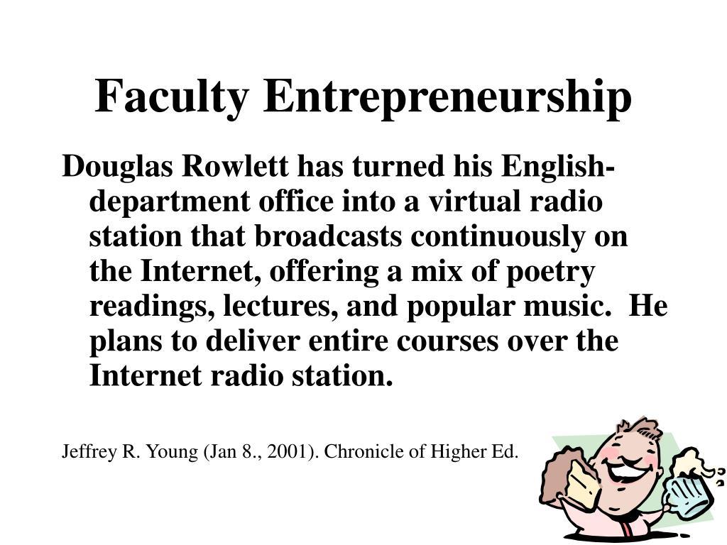 Faculty Entrepreneurship