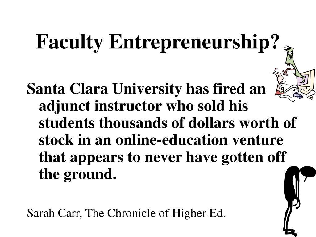 Faculty Entrepreneurship?