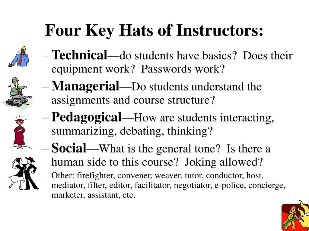 Four Key Hats of Instructors: