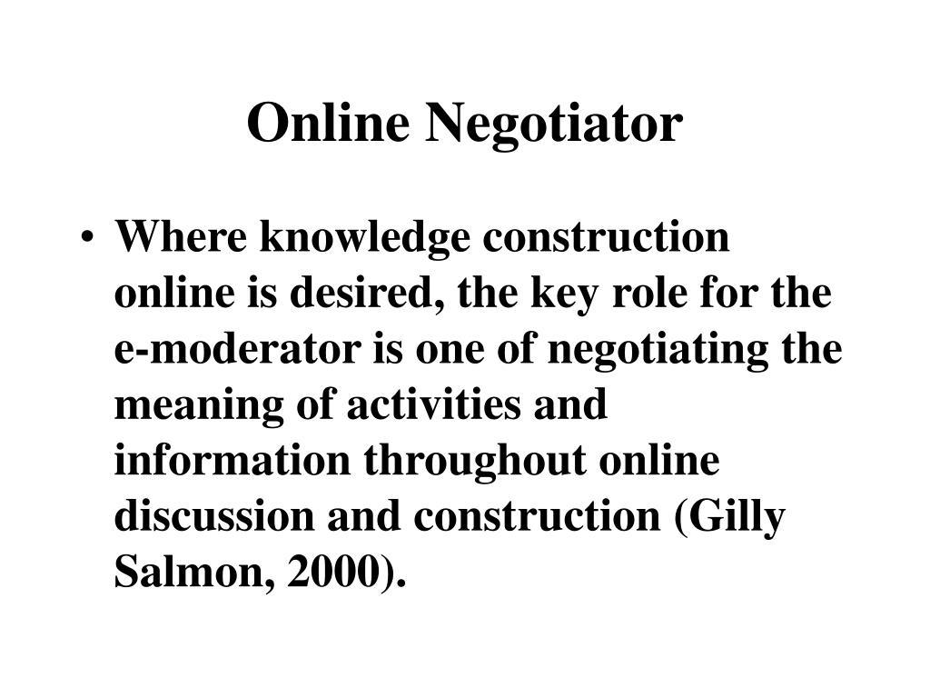 Online Negotiator