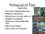 pedagogical tips bonk 1998