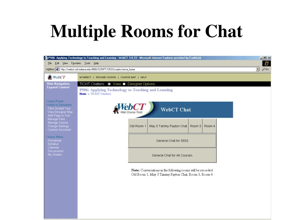 Multiple Rooms for Chat