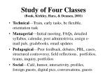 study of four classes bonk kirkley hara dennen 2001