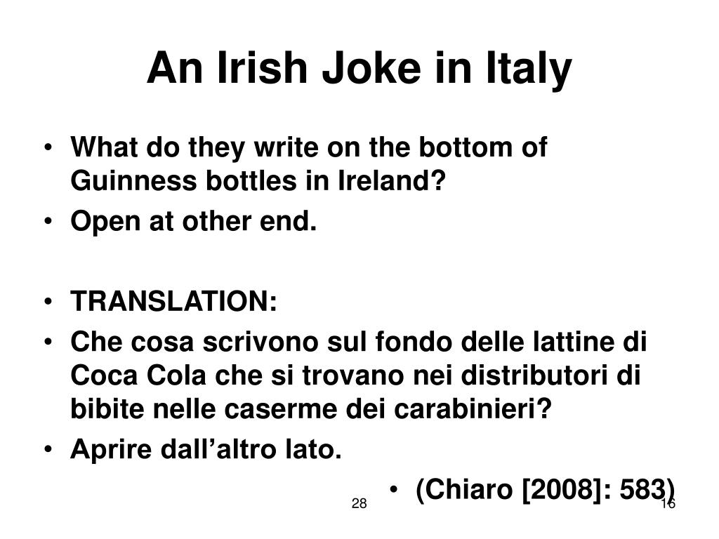 An Irish Joke in Italy
