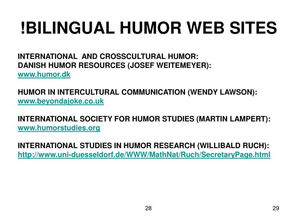 !BILINGUAL HUMOR WEB SITES