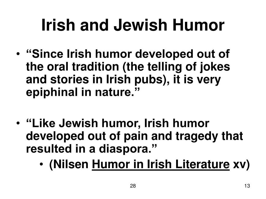 Irish and Jewish Humor
