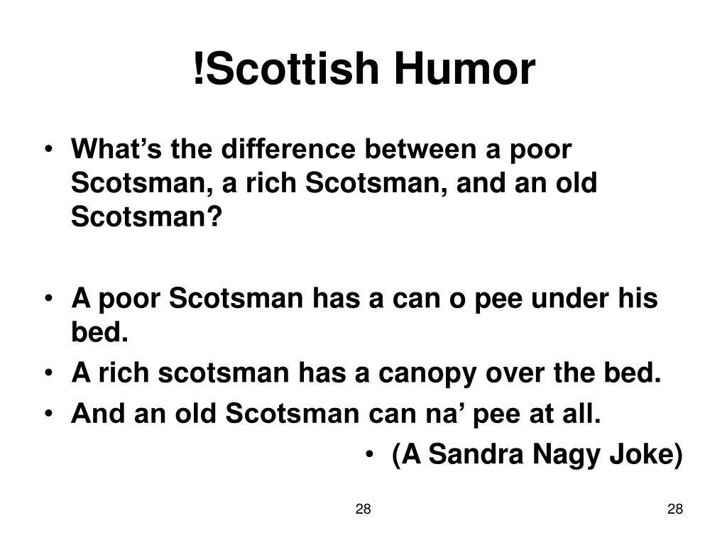 !Scottish Humor