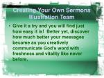 creating your own sermons illustration team19