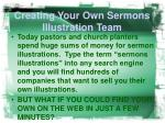 creating your own sermons illustration team3