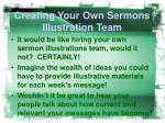 creating your own sermons illustration team5