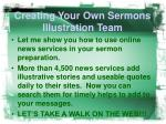 creating your own sermons illustration team6