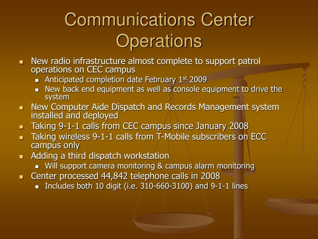 Communications Center Operations