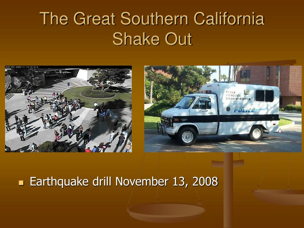 The Great Southern California Shake Out