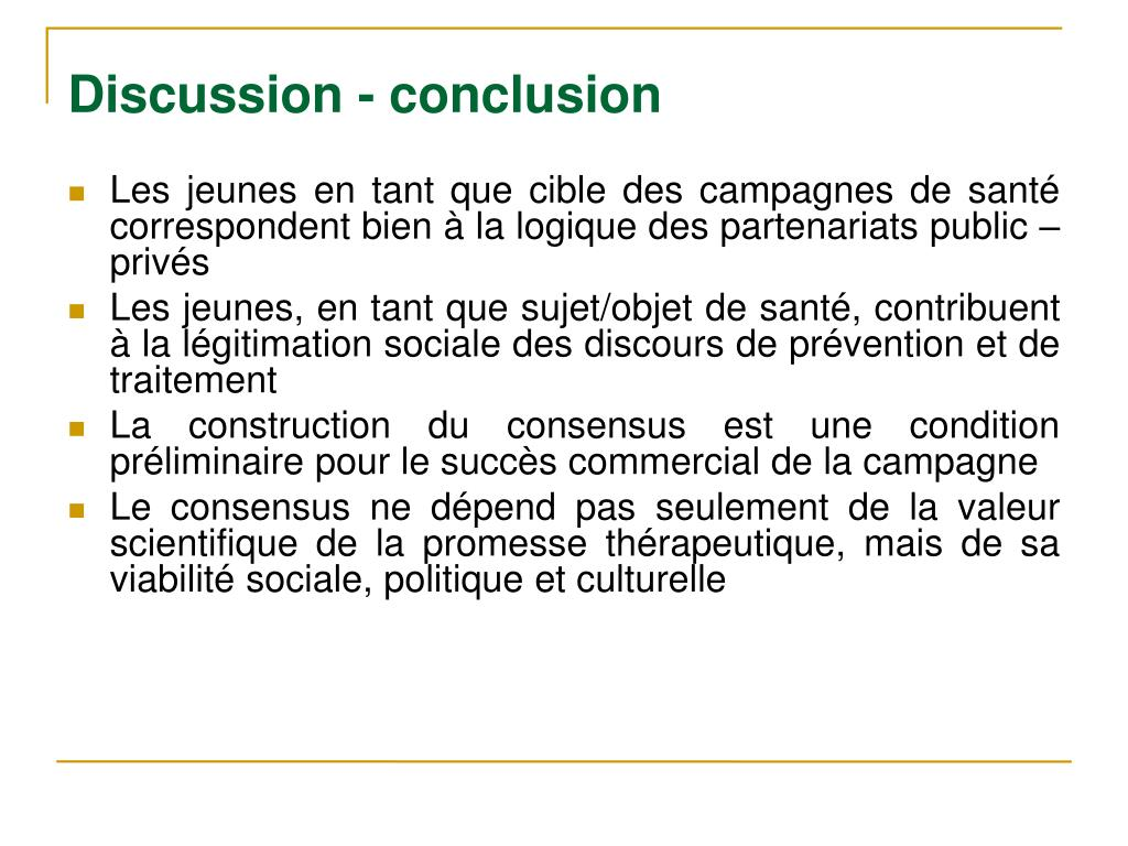 Discussion - conclusion