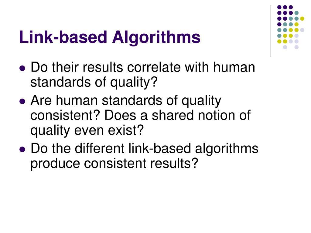 Link-based Algorithms
