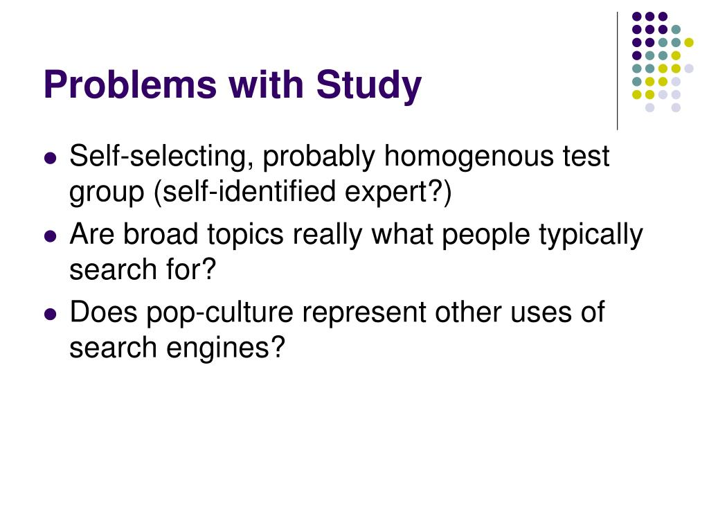 Problems with Study