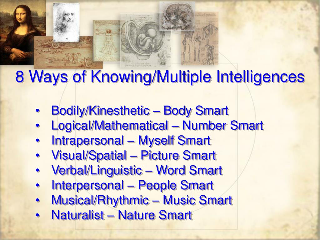 8 Ways of Knowing/Multiple Intelligences