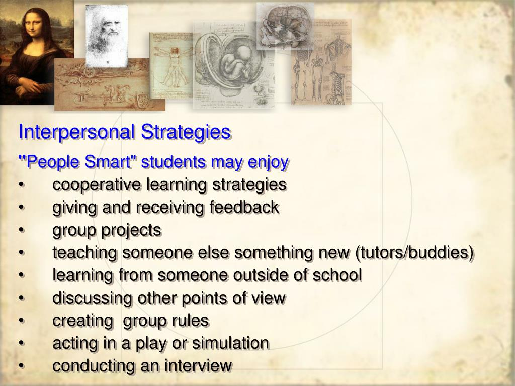 Interpersonal Strategies