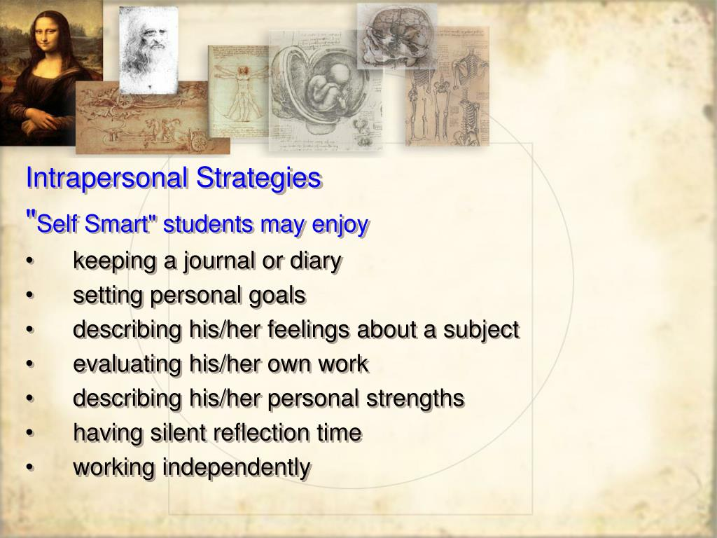 Intrapersonal Strategies