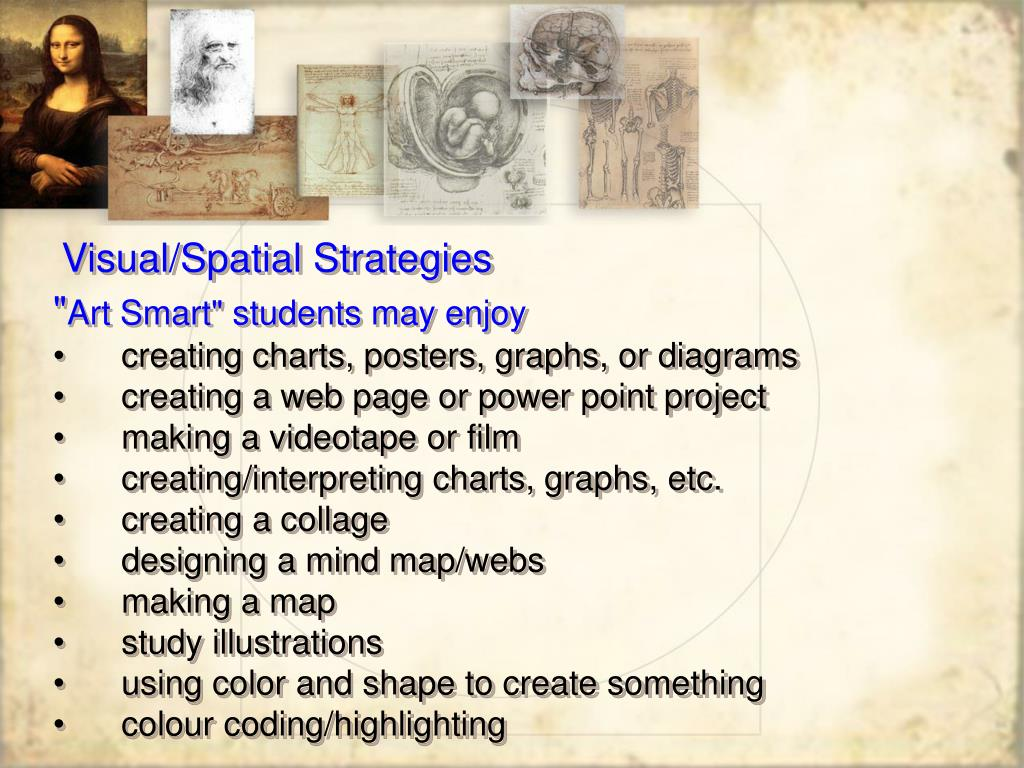 Visual/Spatial Strategies