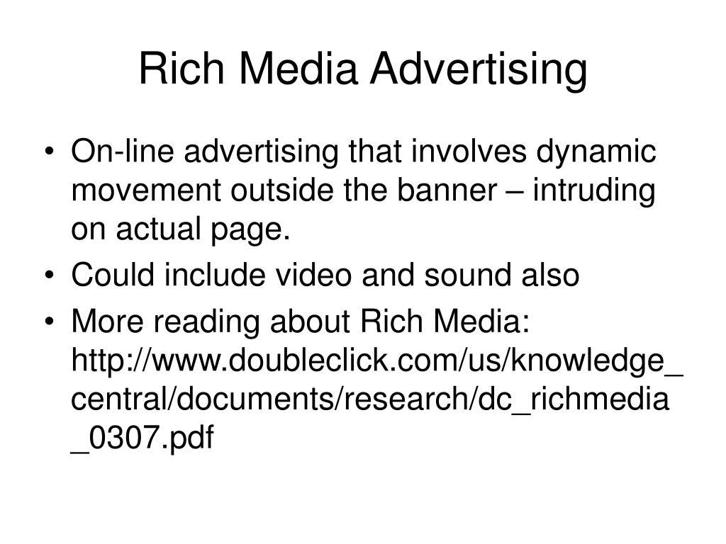 Rich Media Advertising