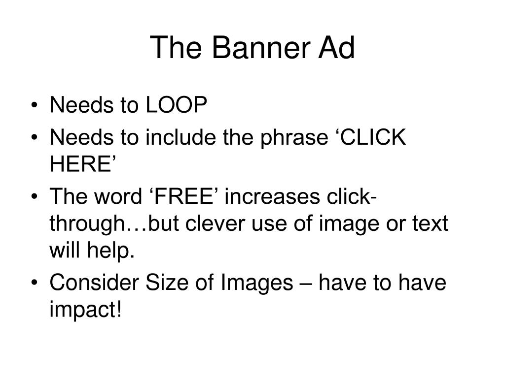 The Banner Ad