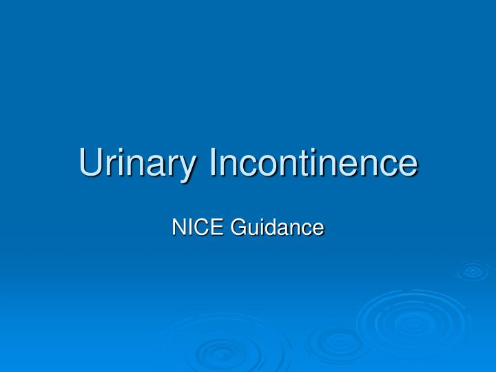 Urinary incontinence l.jpg