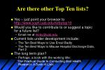 are there other top ten lists