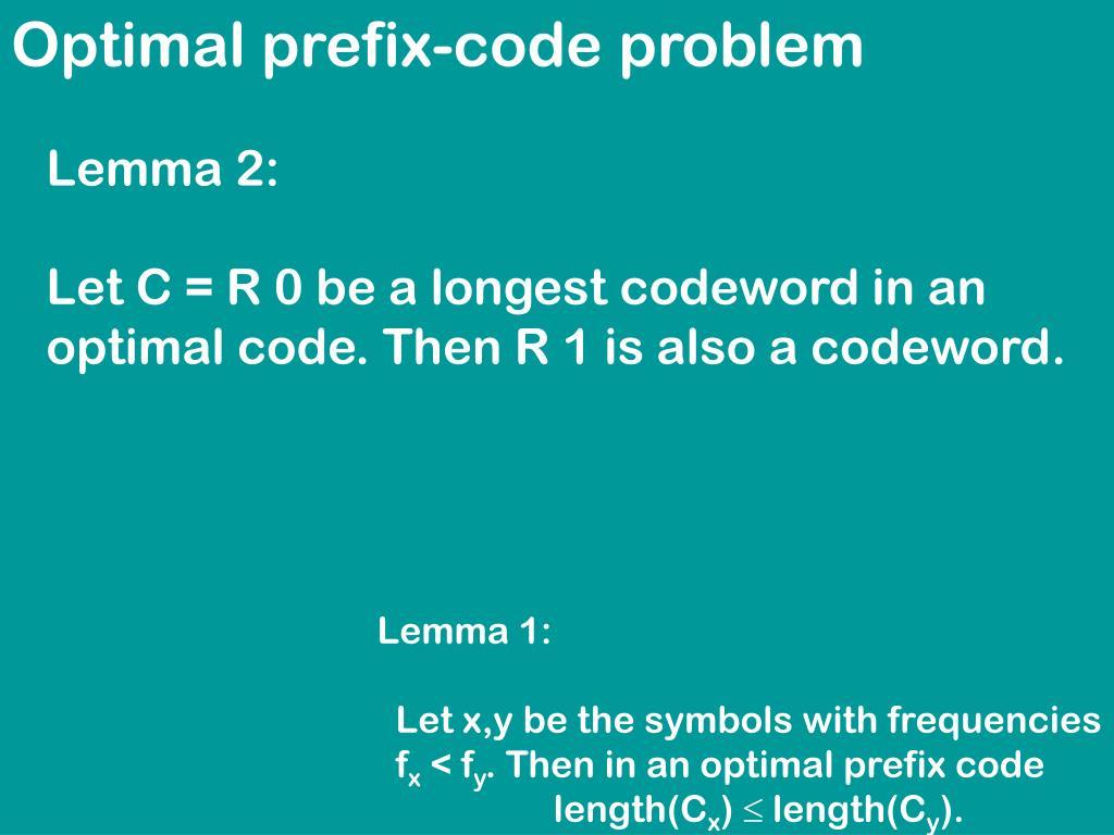 Optimal prefix-code problem