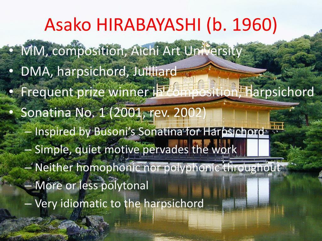 Asako HIRABAYASHI (b. 1960)