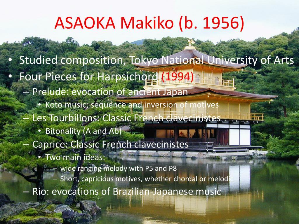 ASAOKA Makiko (b. 1956)